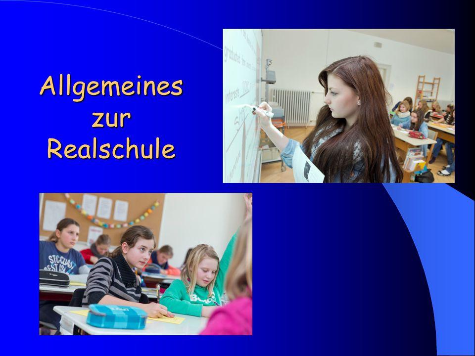 Allgemeines zur Realschule