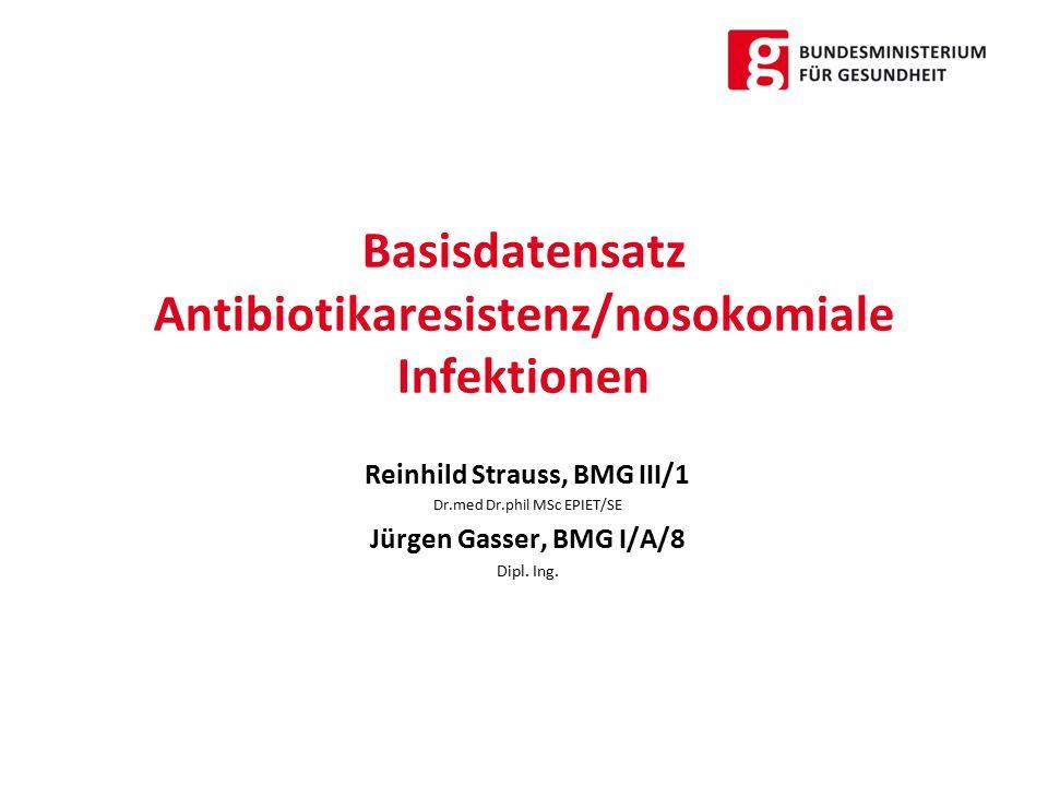 Basisdatensatz Antibiotikaresistenz/nosokomiale Infektionen