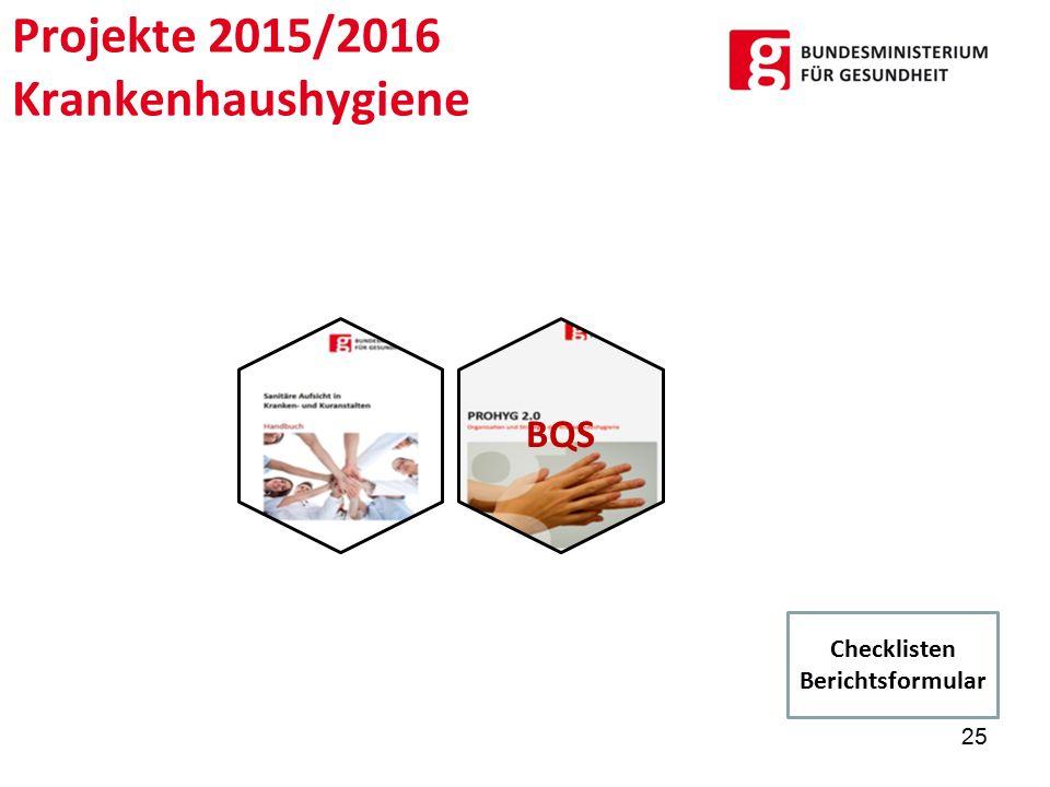 Projekte 2015/2016 Krankenhaushygiene