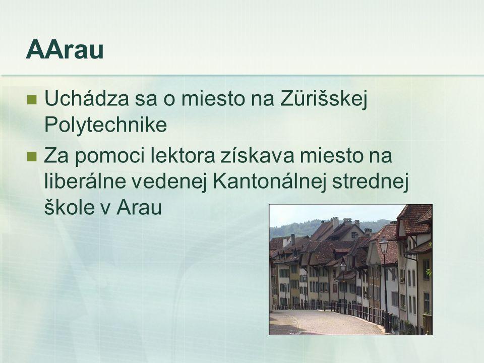 AArau Uchádza sa o miesto na Zürišskej Polytechnike