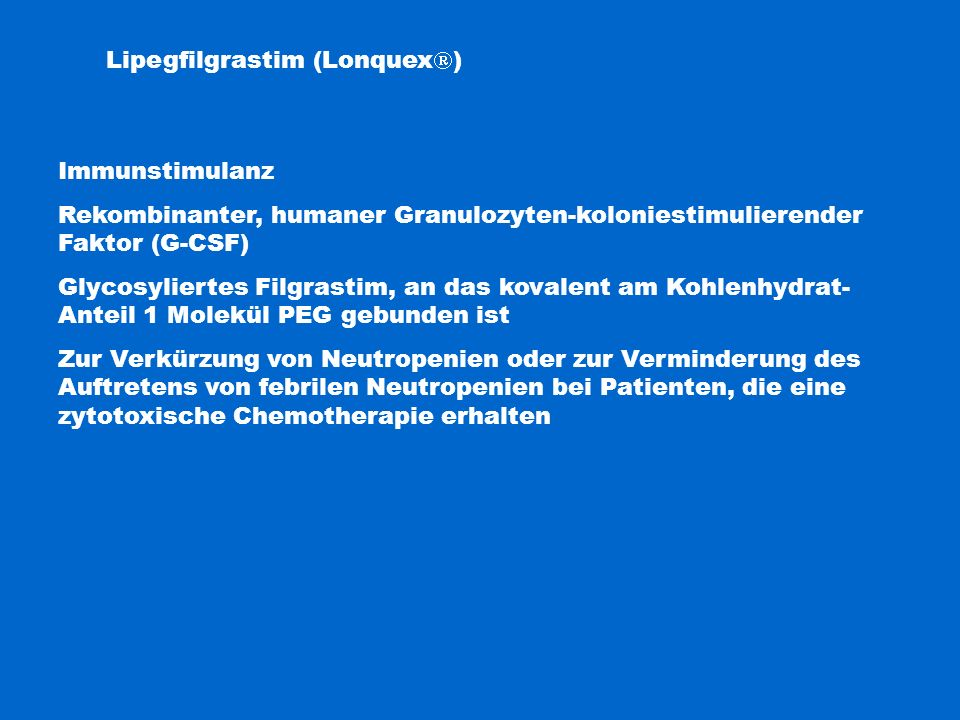 Lipegfilgrastim (Lonquex)