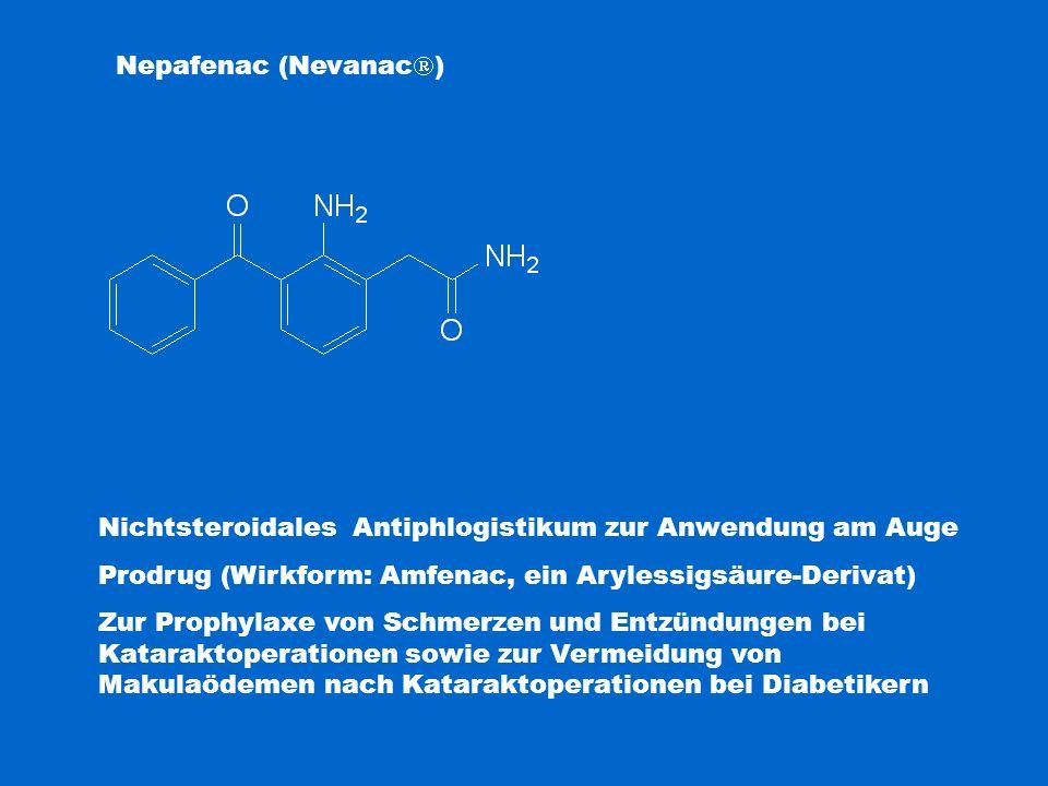 Nichtsteroidales Antiphlogistikum zur Anwendung am Auge