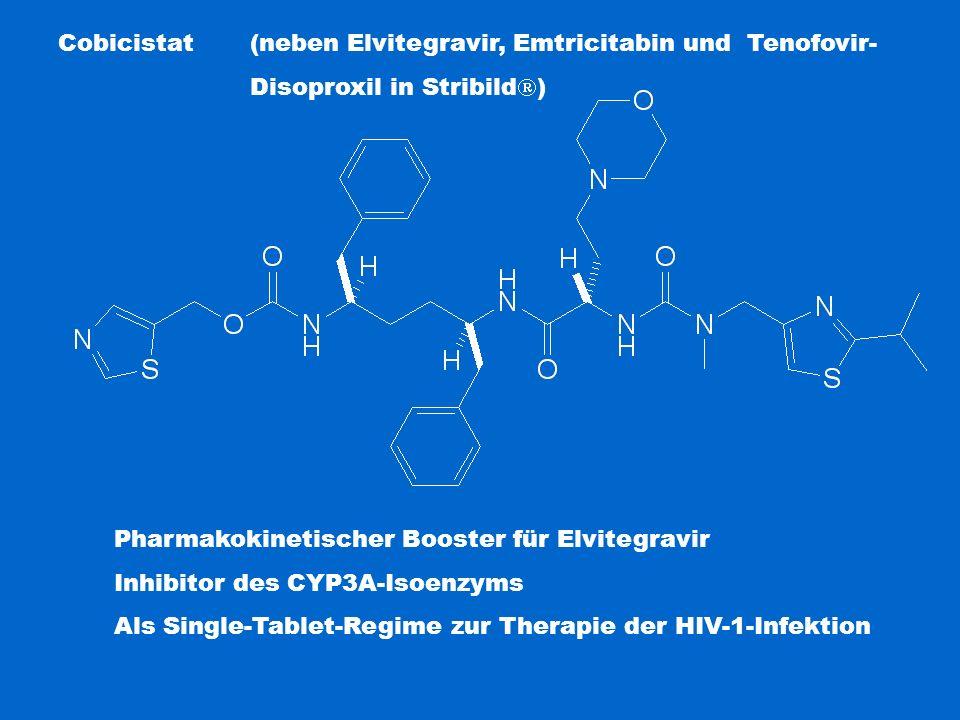Cobicistat (neben Elvitegravir, Emtricitabin und Tenofovir-