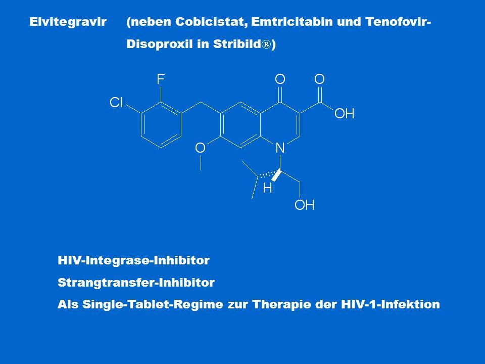 Elvitegravir (neben Cobicistat, Emtricitabin und Tenofovir-