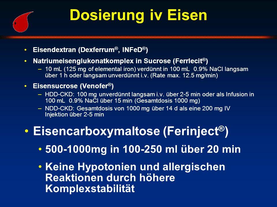 Dosierung iv Eisen Eisencarboxymaltose (Ferinject®)