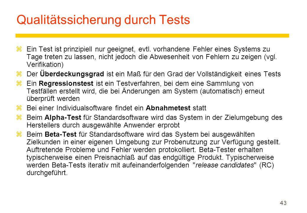 Qualitätssicherung durch Tests