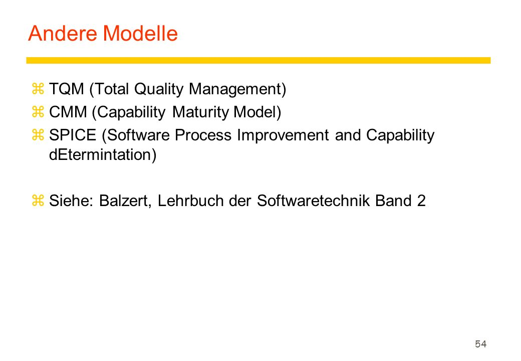 Andere Modelle TQM (Total Quality Management)