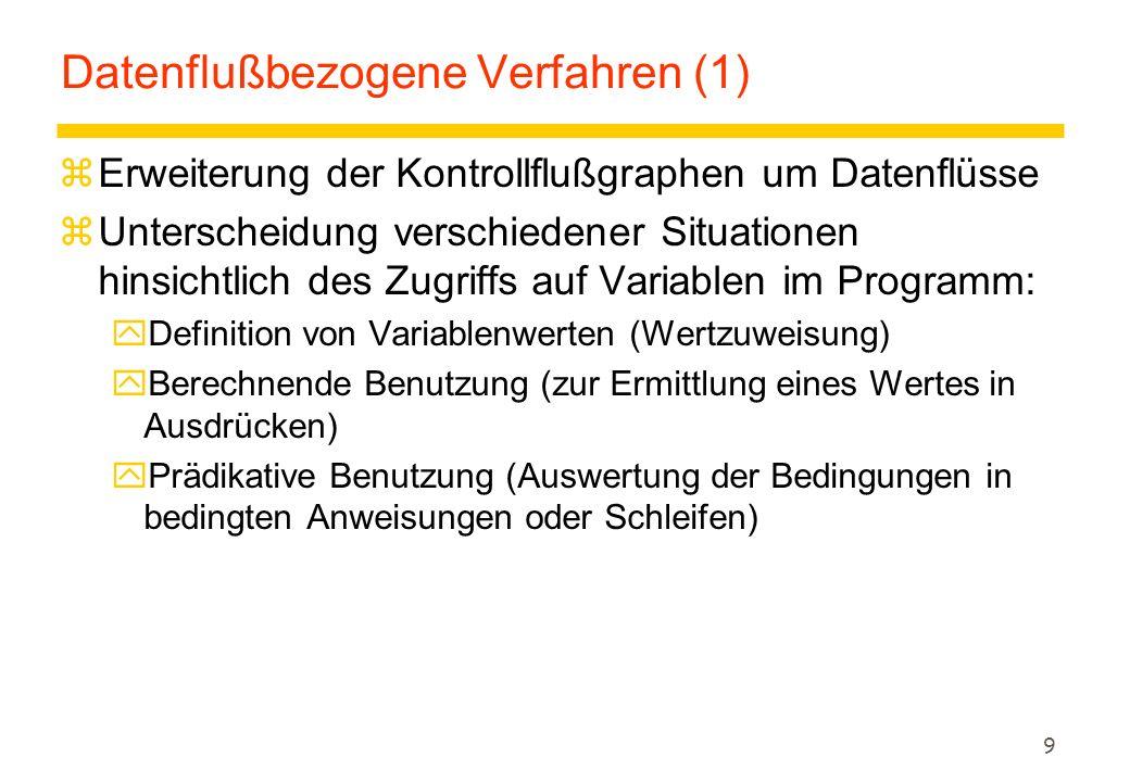 Datenflußbezogene Verfahren (1)