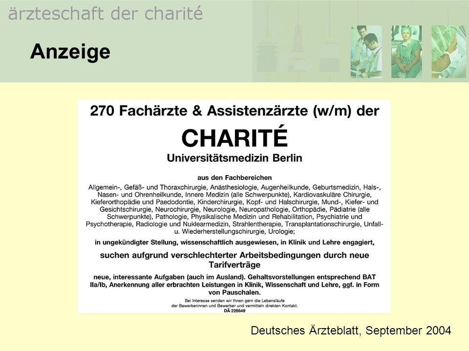 Anzeige Deutsches Ärzteblatt, September 2004
