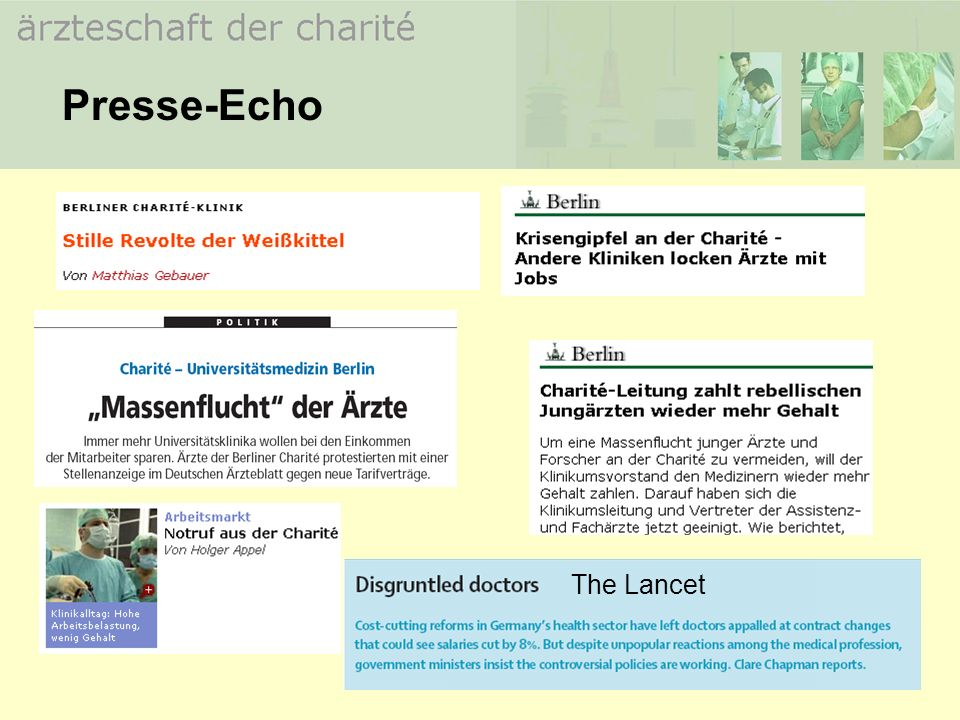 Presse-Echo The Lancet