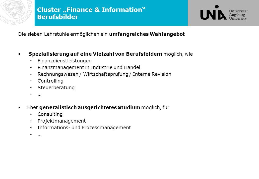 """Cluster """"Finance & Information Berufsbilder"""