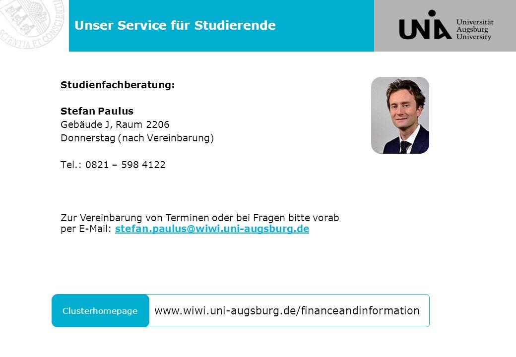 Unser Service für Studierende