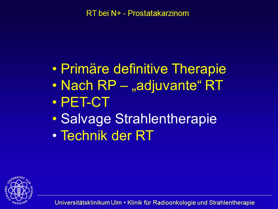 Primäre definitive Therapie
