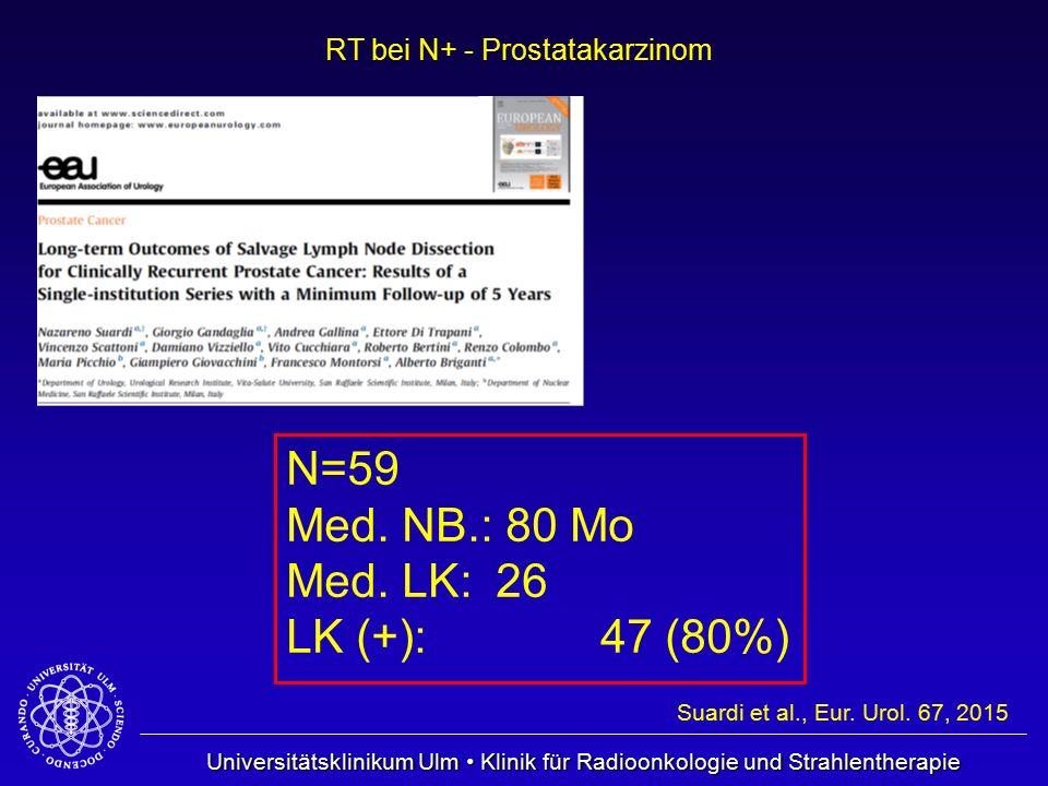N=59 Med. NB.: 80 Mo Med. LK: 26 LK (+): 47 (80%)