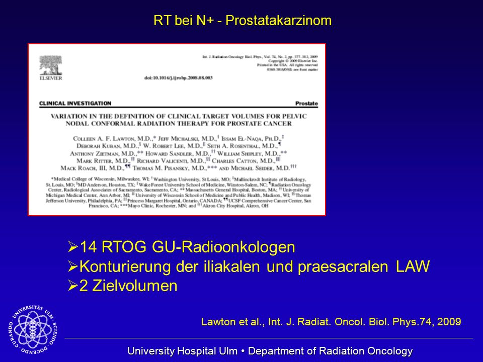 14 RTOG GU-Radioonkologen