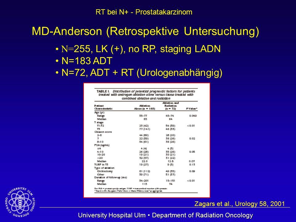 MD-Anderson (Retrospektive Untersuchung)