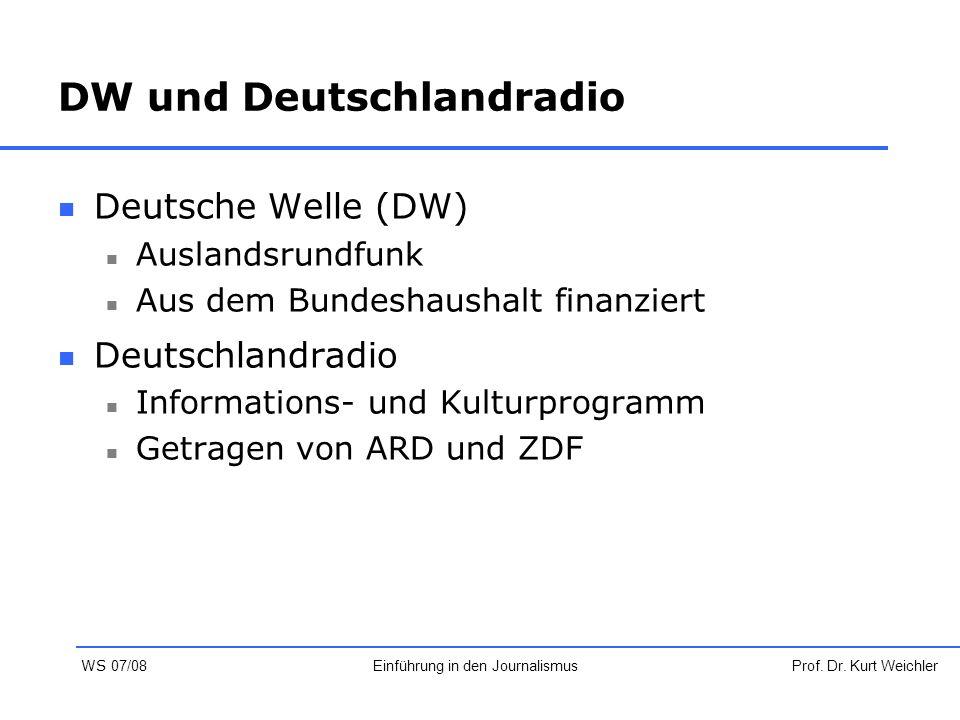 DW und Deutschlandradio