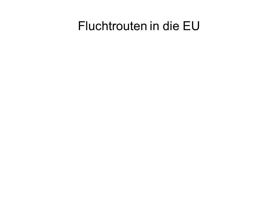 Fluchtrouten in die EU