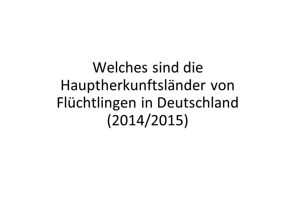 Welches sind die Hauptherkunftsländer von Flüchtlingen in Deutschland (2014/2015)