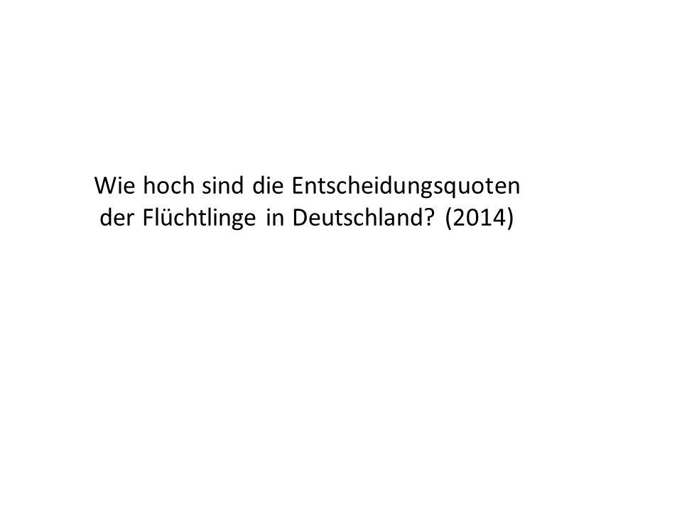 Wie hoch sind die Entscheidungsquoten der Flüchtlinge in Deutschland