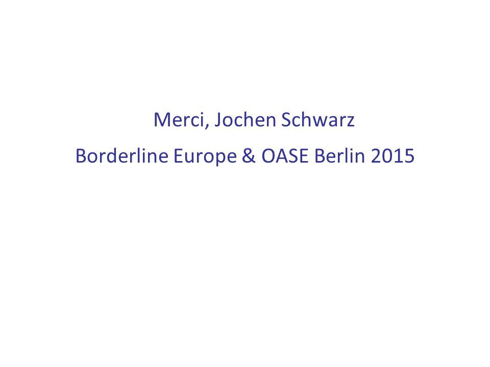 Borderline Europe & OASE Berlin 2015
