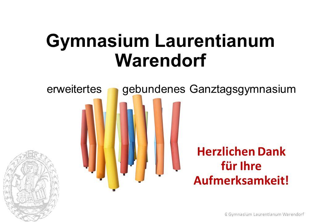Gymnasium Laurentianum Warendorf für Ihre Aufmerksamkeit!