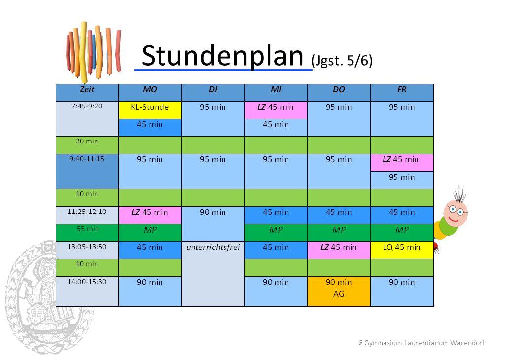 Stundenplan (Jgst. 5/6) ₢ Gymnasium Laurentianum Warendorf 4 4