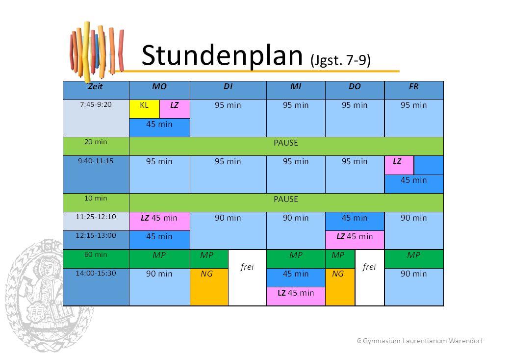 Stundenplan (Jgst. 7-9) ₢ Gymnasium Laurentianum Warendorf 5 5