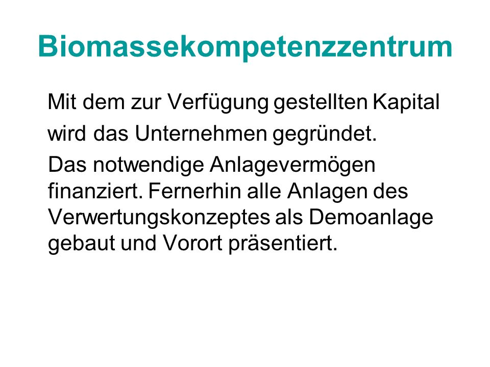 Biomassekompetenzzentrum