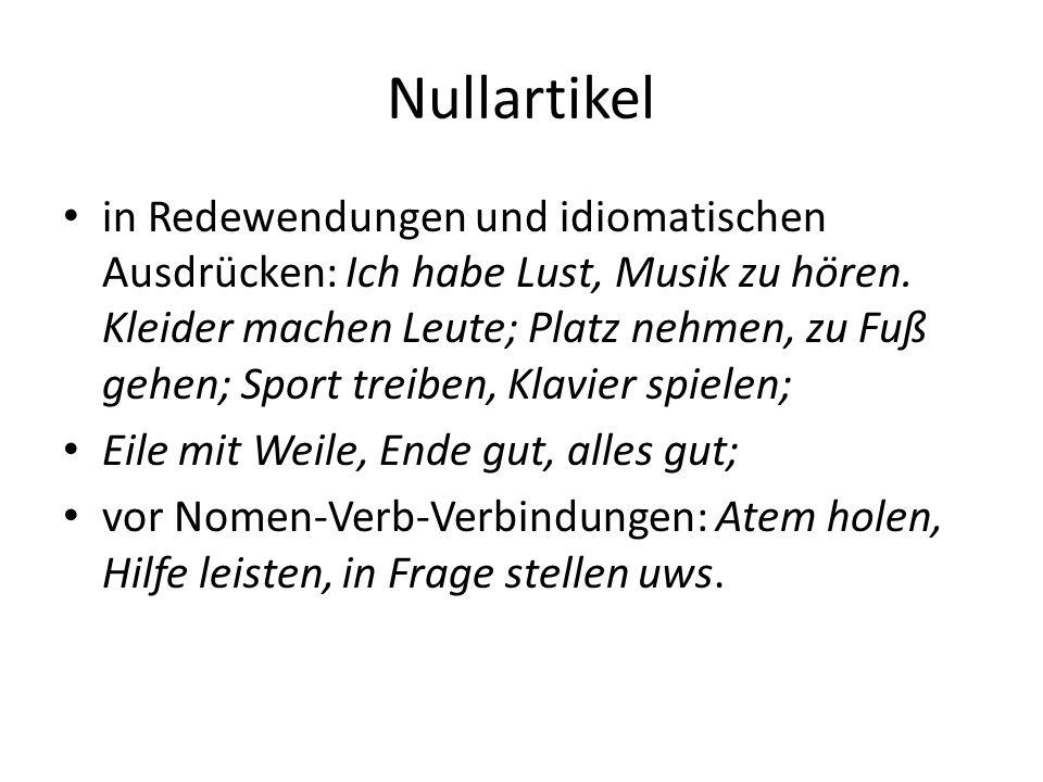 Structura limbii/ Nominalphrase Vorlesung 6 - ppt ...