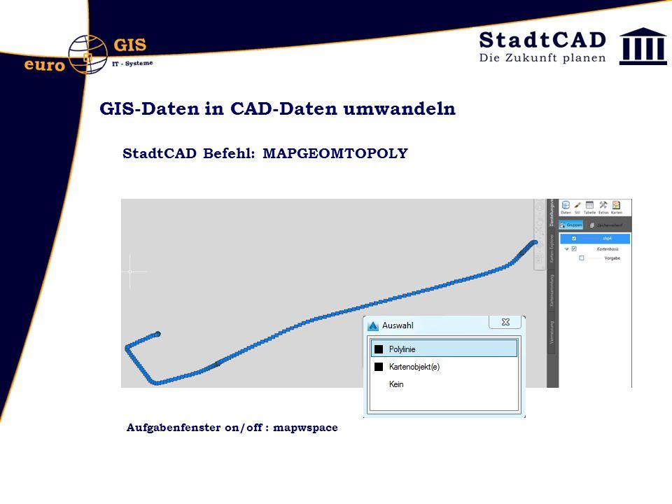 GIS-Daten in CAD-Daten umwandeln