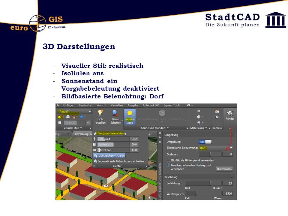 3D Darstellungen Visueller Stil: realistisch Isolinien aus