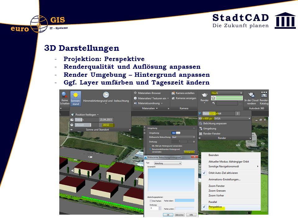 3D Darstellungen Projektion: Perspektive