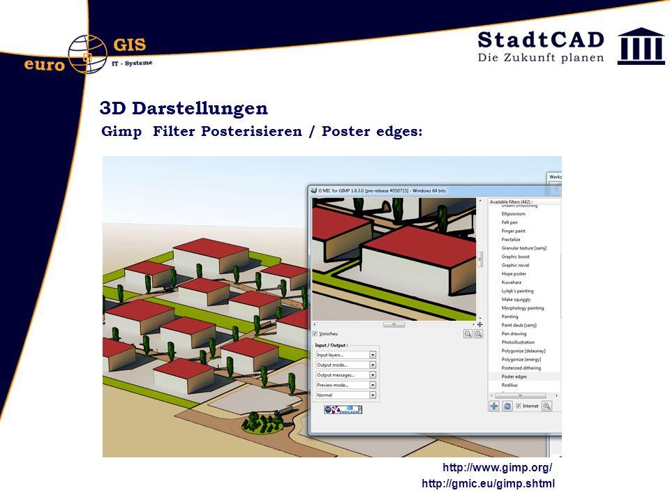 3D Darstellungen Gimp Filter Posterisieren / Poster edges: