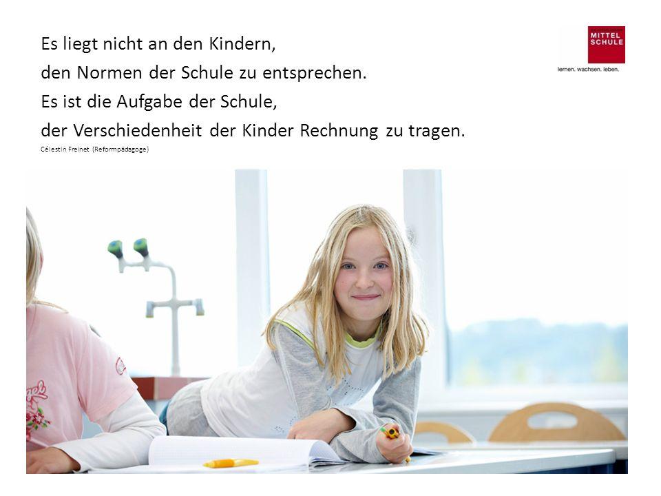 Es liegt nicht an den Kindern, den Normen der Schule zu entsprechen.