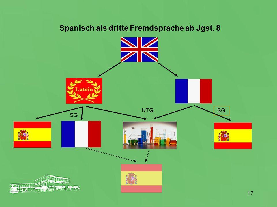 Spanisch als dritte Fremdsprache ab Jgst. 8
