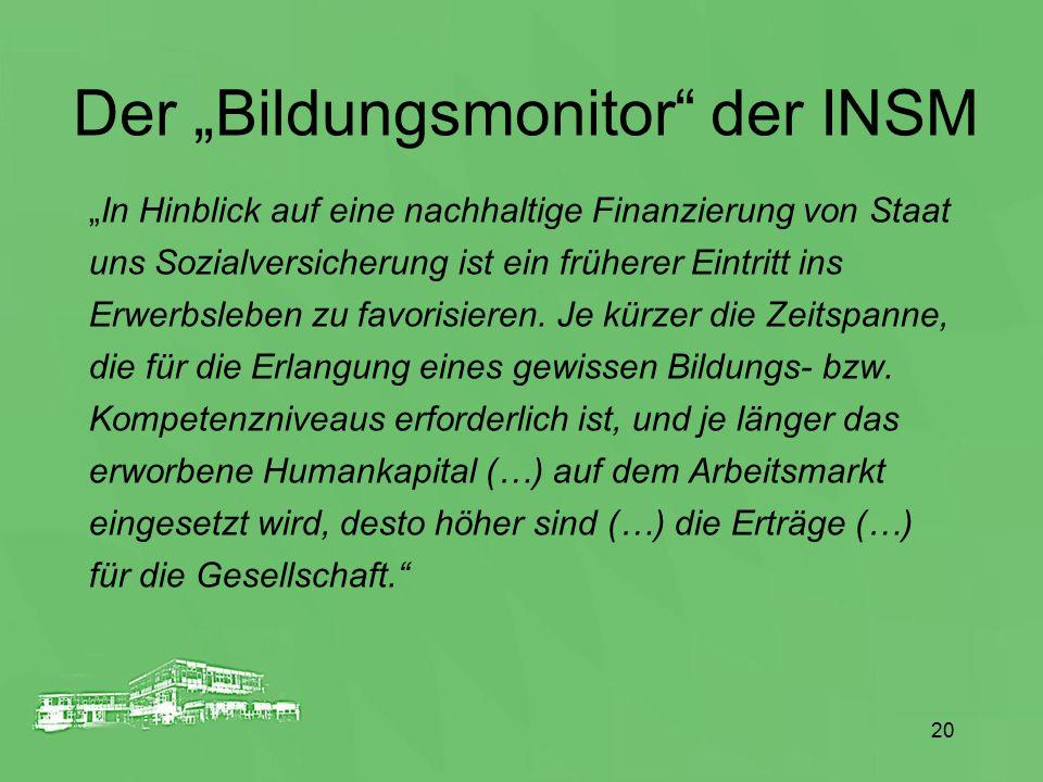 """Der """"Bildungsmonitor der INSM"""