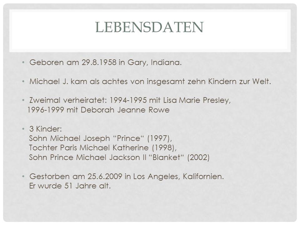Lebensdaten Geboren am 29.8.1958 in Gary, Indiana.