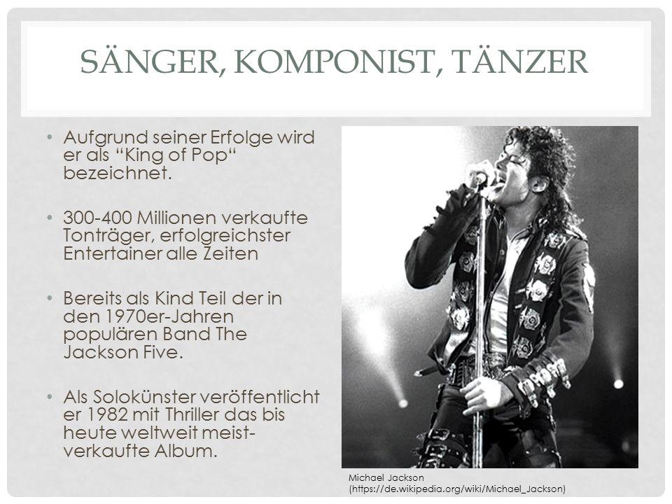 Sänger, Komponist, Tänzer