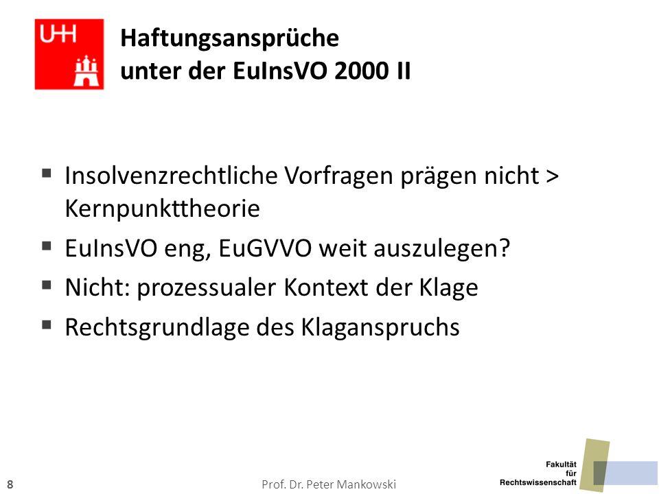 Haftungsansprüche unter der EuInsVO 2000 II