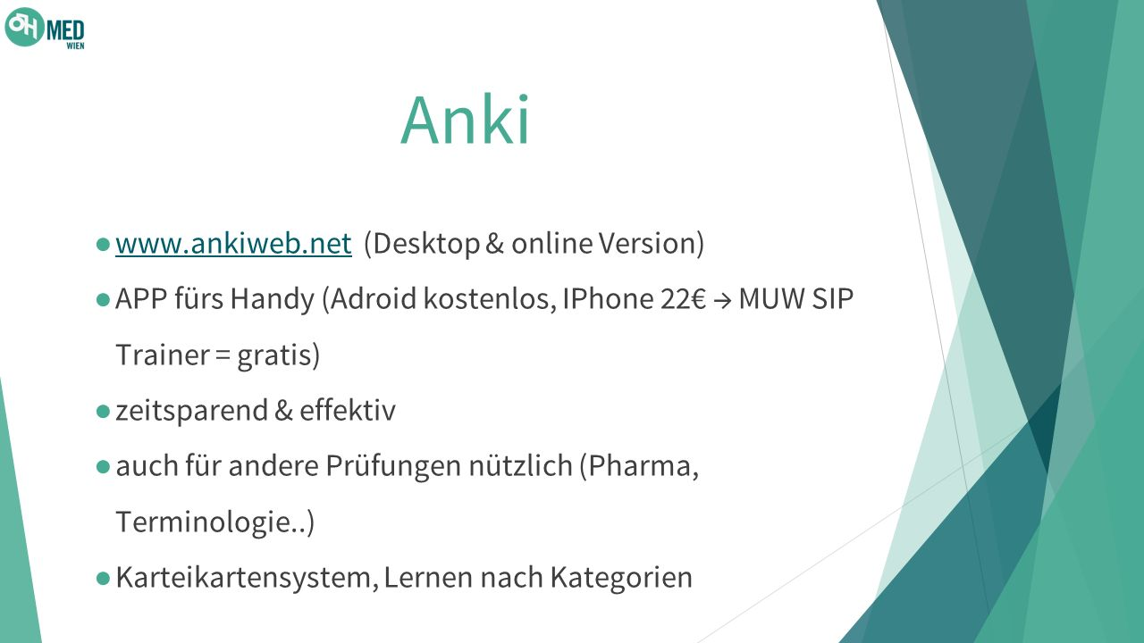 Anki www.ankiweb.net (Desktop & online Version)