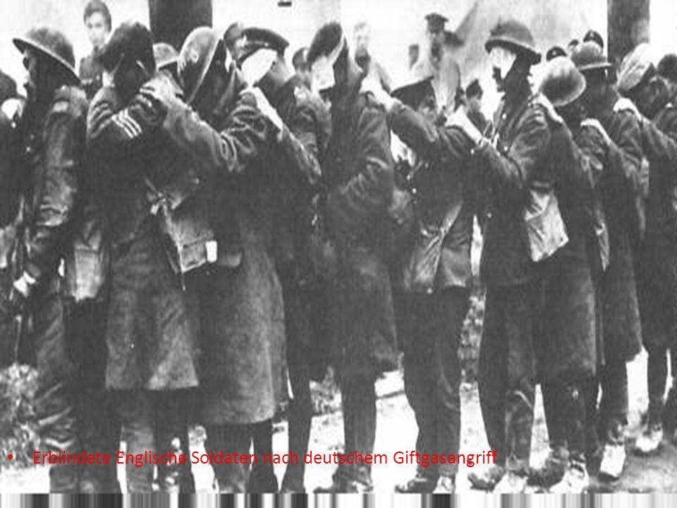 Erblindete Englische Soldaten nach deutschem Giftgasangriff