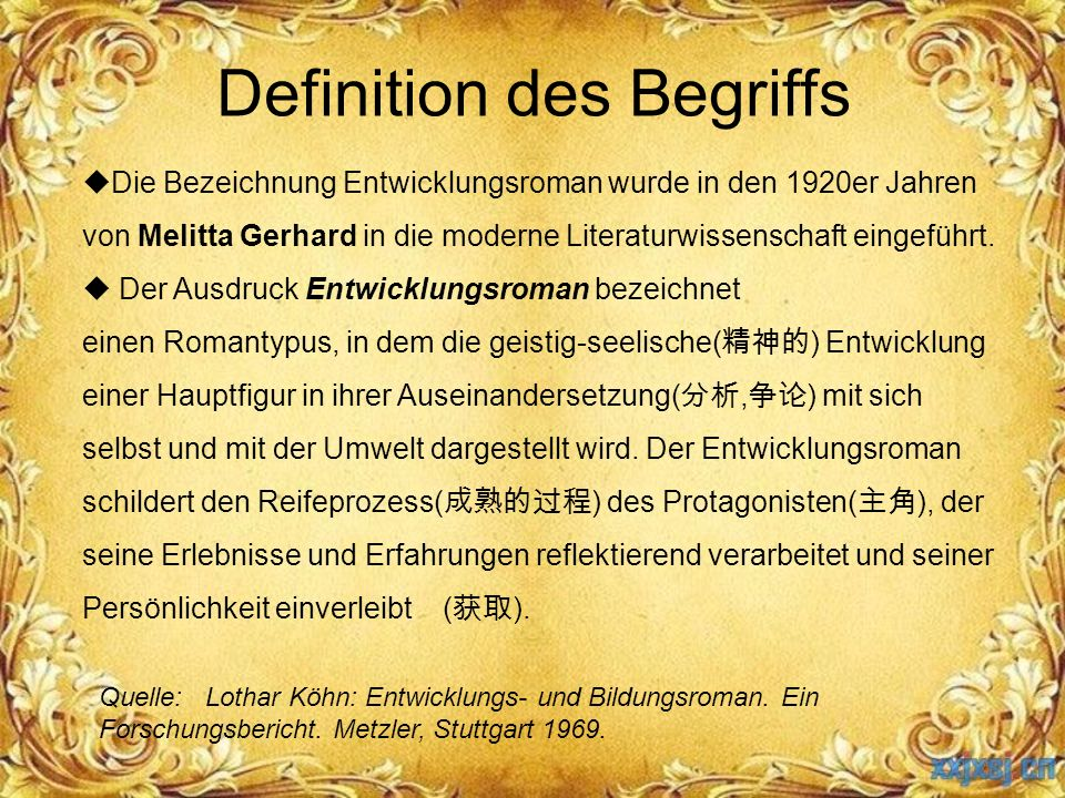 Definition des Begriffs