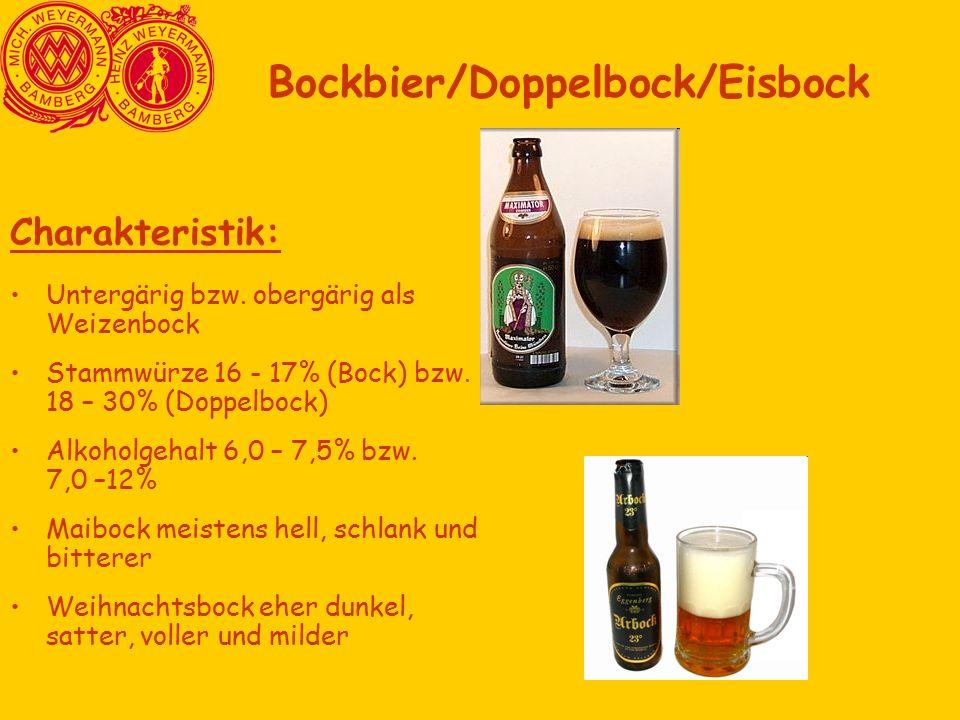 Bockbier/Doppelbock/Eisbock