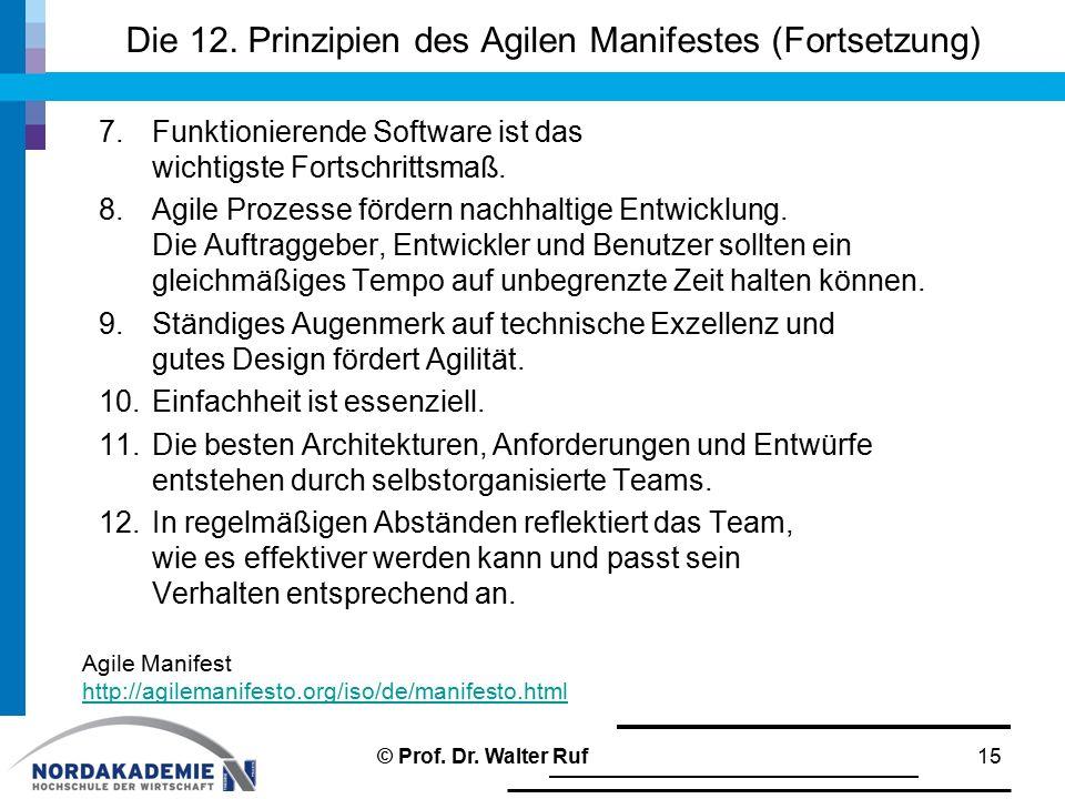 Die 12. Prinzipien des Agilen Manifestes (Fortsetzung)