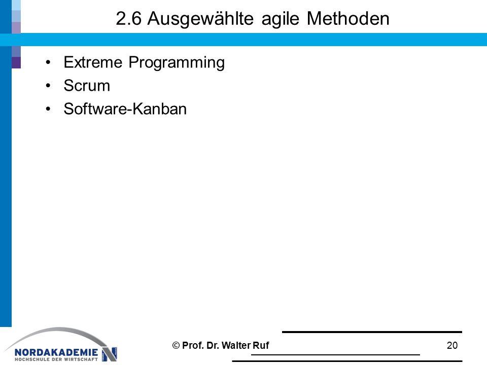 2.6 Ausgewählte agile Methoden