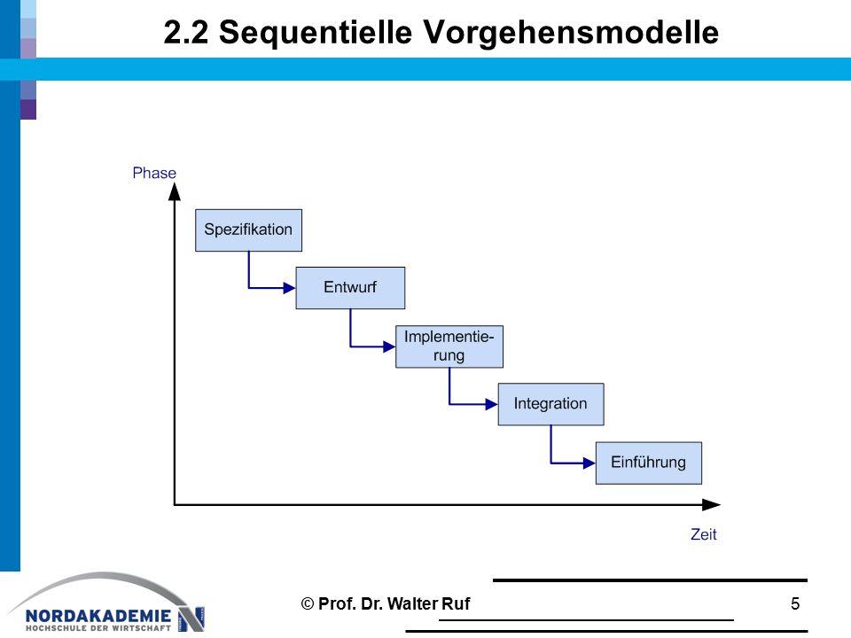 2.2 Sequentielle Vorgehensmodelle