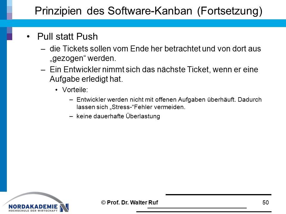 Prinzipien des Software-Kanban (Fortsetzung)