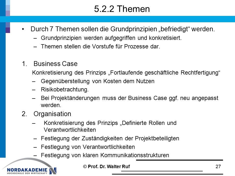 """5.2.2 Themen Durch 7 Themen sollen die Grundprinzipien """"befriedigt werden. Grundprinzipien werden aufgegriffen und konkretisiert."""