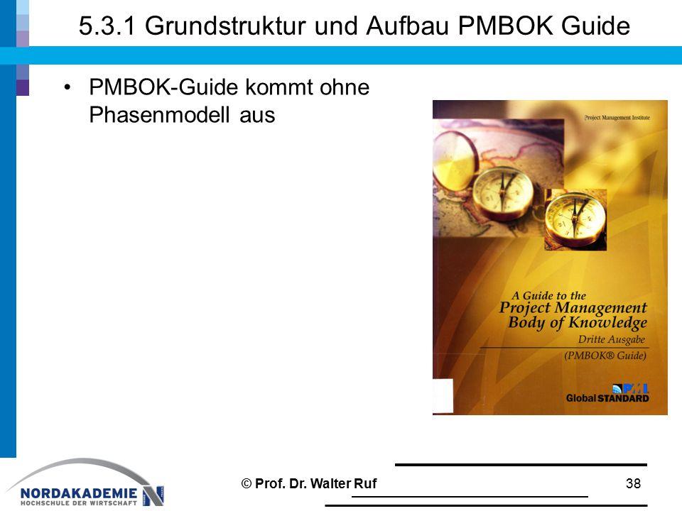 5.3.1 Grundstruktur und Aufbau PMBOK Guide